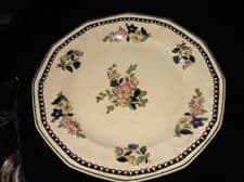 RARE DINNER PLATE ROYAL DOULTON D4051 OLD LEEDS FLORAL RdNo 597783 10.5""