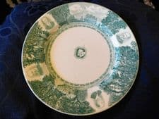 RARE GREEN COLOURWAY WEDGWOOD 1943 JUBILEE PLATE CALIFORNIA UNIVERSITY 9A44 8.5""