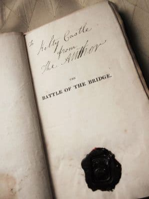 RARE HB S MAXWELL CLAN WAX SEAL & NOTE KELTY CASTLE BATTLE OF BRIDGE PISA 1823