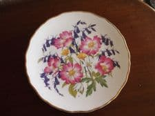 "ROYAL ALBERT DISPLAY PLATE LTD EDITION WOODLAND ROSES JO HAGUE 8.5"" CLEAR COLOUR"