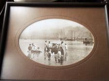 SMALL FRAMED MATTE GLAZED SEPIA PHOTO PRINT FRANK SUTCLIFFE WHITBY WATER RATS