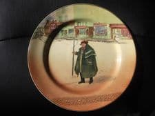 """VINTAGE 10.25"""" PLATE ROYAL DOULTON DICKENS SERIES TONY WELLER D5175 F BLUSH"""