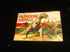 VINTAGE 49 / 50 SET BROOKE BOND PICTURE CARD ALBUM PREHISTORIC ANIMALS + EXTRAS
