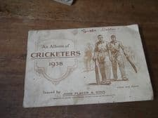 VINTAGE 50 SET PLAYERS CRICKETERS 1938  CIGARETTE CARDS ALBUM