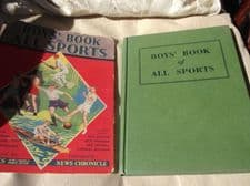 VINTAGE COLLECTABLE HB &DC BOYS BOOK OF ALL SPORTS W J HICKS NEWS CHRONICLE