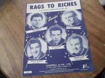 VINTAGE ORIGINAL SHEET MUSIC 1953 RAGS TO RICHES ADLER & ROSS GREAT CONDITION