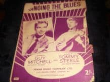VINTAGE ORIGINAL SHEET MUSIC 1954 SINGING THE BLUES TOMMY STEELE GUY MITCHELL