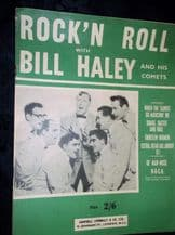 VINTAGE ORIGINAL SHEET MUSIC BOOKLET 1955 ROCK'N ROLL BILL HALEY GREAT PHOTOS