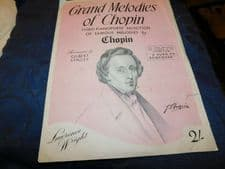 VINTAGE SHEET MUSIC GRAND MELODIES OF CHOPIN GILBERT STACEY 3rd VALSE POLONAISE