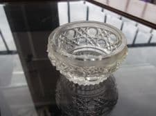 VINTAGE SMALL CUT LEAD CRYSTAL DRESSING TABLE POT BASE ONLY - NO LID