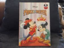 WALT DISNEY GROLIER BOOK PRINCE & THE PAUPER MICKEY MOUSE EXCELLENT CONDITION