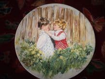WEDGWOOD QUEENS WARE DISPLAY PLATE LIMITED EDITION VICKERS BE MY FRIEND