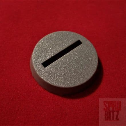 25mm Slotted Grey Base from Warhammer 40,000 2nd Edition