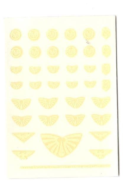 Blood Angels White Small Transfer Sheet decals (1989)