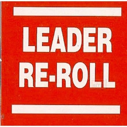 Blood Bowl Leader Re-Roll Re Roll Counter Card Red