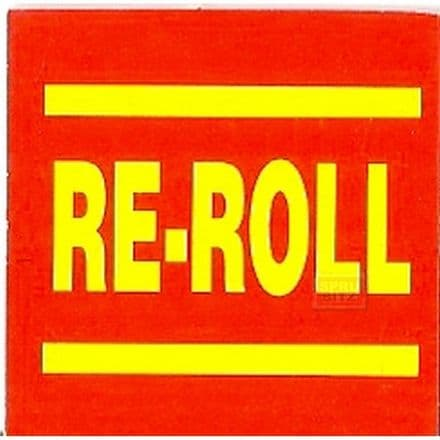 Blood Bowl Re-Roll Re Roll Counter Card Red