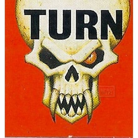 Blood Bowl Turn Counter Card Red