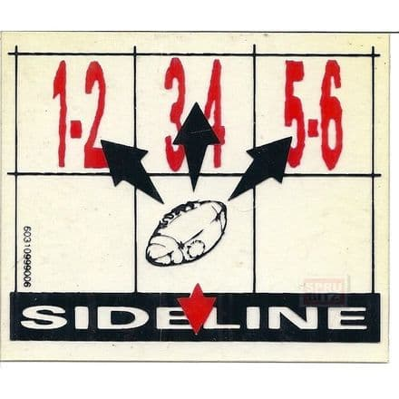 Bloodbowl Blood Bowl Sideline Throw-in Template