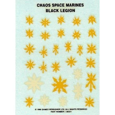Chaos Space Marines Black Legion Transfer Sheet (1996)