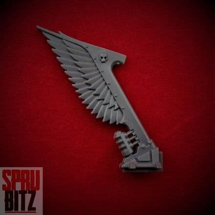 Ravenwing Command Squad Bike Wing Tail Banner (B)