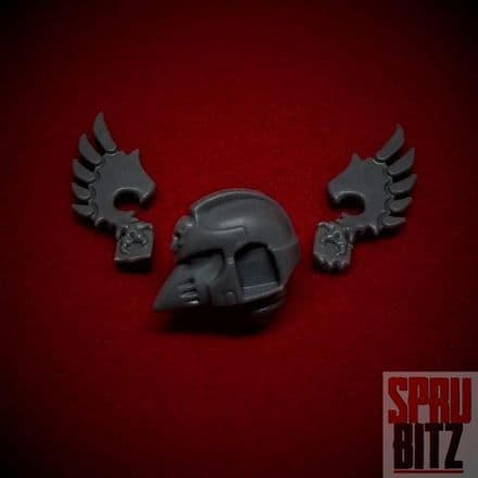 Ravenwing Command Squad Helmet with Wings set