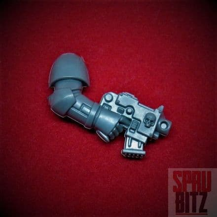 Space Marine Assault Squad right arm Bolt Pistol skull (2014)
