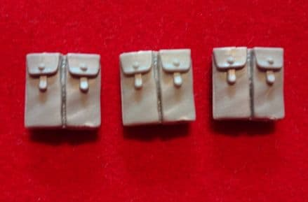 Space Marine Dual Hip Ammo Pouch set of 3