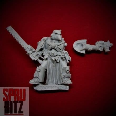 Space Marine Veteran with Chainsword Beaky (finecast)