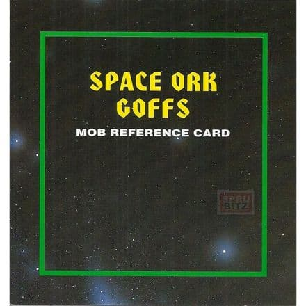 Space Ork Goffs Reference Card from Warhammer 40,000 2nd Edition