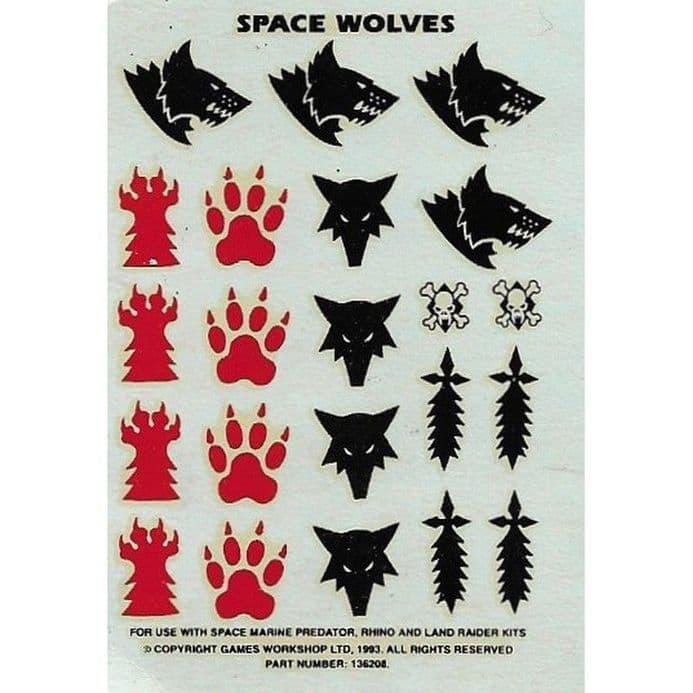 Space Wolves small Transfer Sheet Decals (1993)