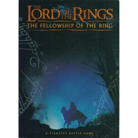 The Lord of the Rings The Fellowship of the Ring Rulebook 2001