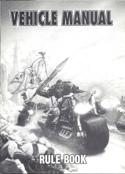 Vehicle Manual Rule Book + Template (1992) Rogue Trader Warhammer 40,000 1st edition