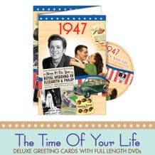 1940 to 1949  The time of your life DVD Greeting Card.