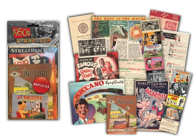 1950's Childhood Memorabilia Gift Pack | 70TH Birthday Gifts | Retro Gift