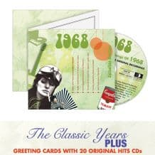 1960 to 1969  The Classic Years CD Greeting Card.