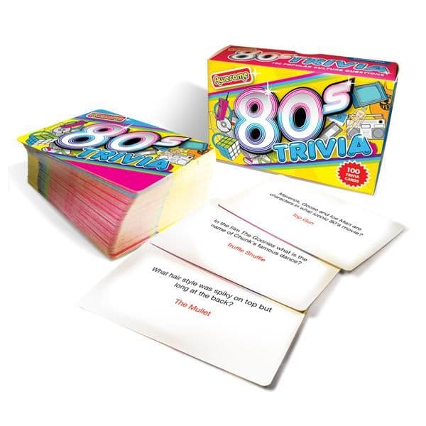 1980's Awesome Trivia Card Game | 40th Birthday Gift Ideas | Retro Gifts
