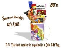 80's Child  Mug - Girls - with/without a selection of 80's Retro Sweets