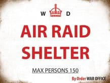 Air Raid Shelter Metal Wall Sign (4 sizes)