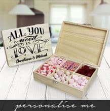 All You Need Is Love Wooden Sweet Box