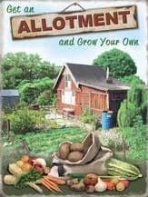Allotment Metal Wall Sign (4 sizes)