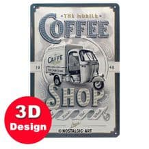Ape Coffee Shop 3D Metal Wall Sign