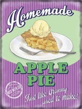 Apple Pie Retro Diner Metal Wall Sign (4 sizes)