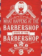 Barbershop Rules Metal Wall Sign (4 sizes)