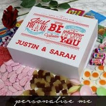 Be My Valentine Deluxe Sweetie Box White
