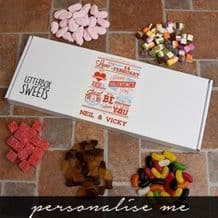 Be My Valentine Letterbox Retro Sweets