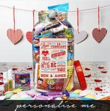 Be My Valentine- Personalised Sweet Jar (Large)