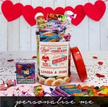 Be My Valentine- Personalised Sweet Jar (Medium)