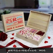 Be My Valentine Wooden Sweet Box