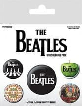 Beatles Albums Badge Pack