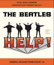 Beatles HELP Metal Wall Sign (4 sizes)